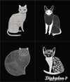Catnip - Cats Panel Black - Gingiber - Moda (Pre-order: Feb 2018)