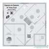 "Creative Grids - Square on Square Trim Tool 4"" or 8"" Finished"