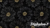 Shiny Objects - Embossed Blooms in Onyx - RJR Fabrics