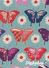 Flutter - Butterflies Aqua - Melody Miller - Cotton + Steel
