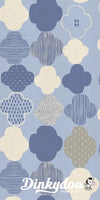 Mori No Tomodachi - Kumo in Blue Unbleached Cotton Fabric - Cotton + Steel