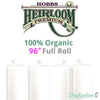 "Hobbs Heirloom 100% Organic Cotton Batting - 96"" (Full Roll 30 Yd.)"