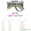"Hobbs Heirloom 80/20 Cotton Batting - 120"" (Full Roll 30 Yd.) FREE $20 Gift Card"