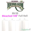 "Hobbs Heirloom 80/20 Cotton Batting - Bleached - 108"" (Full Roll 30 Yd.)"