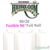 "Hobbs Heirloom 80/20 Fusible Cotton Batting - 96"" (Full Roll 30 Yd.)"