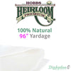 Hobbs Heirloom 100% Natural Cotton Batting - 96""