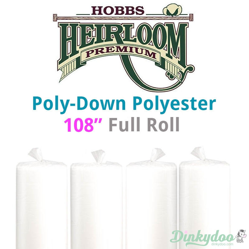 "Hobbs Poly-Down Polyester Batting - 108"" (Full Roll 30 Yd.)"