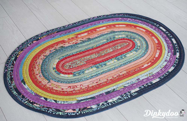 Jelly Roll Rug Pattern Easy To Make Dinkydoo Fabrics