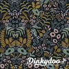 Menagerie - Tapestry Midnight Metallic (Canvas) - Rifle Paper Co (1/4 Yard) (Pre-order: 08/17) - Dinkydoo Fabrics