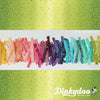 Ombre Confetti - Lime Green (Metallic) - V and Co - Moda (1/4 Yard) (Pre-order: 02/18)
