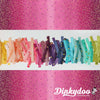 Ombre Confetti - Magenta (Metallic) - V and Co - Moda (1/4 Yard) (Pre-order: 02/18)