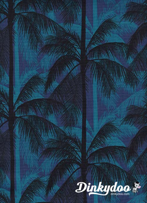 Poolside - Palms Blue - Melody Miller - Alexia Abegg - Cotton + Steel