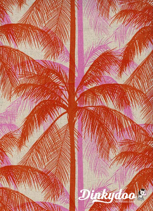 Poolside - Palm Pink (Canvas) - Melody Miller - Alexia Abegg - Cotton + Steel