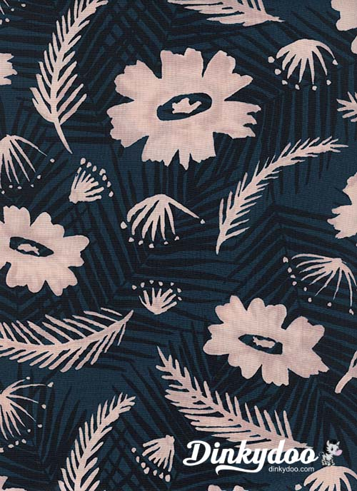 Poolside - Palm Springs Bouquet Blue (Rayon) - Melody Miller - Alexia Abegg - Cotton + Steel