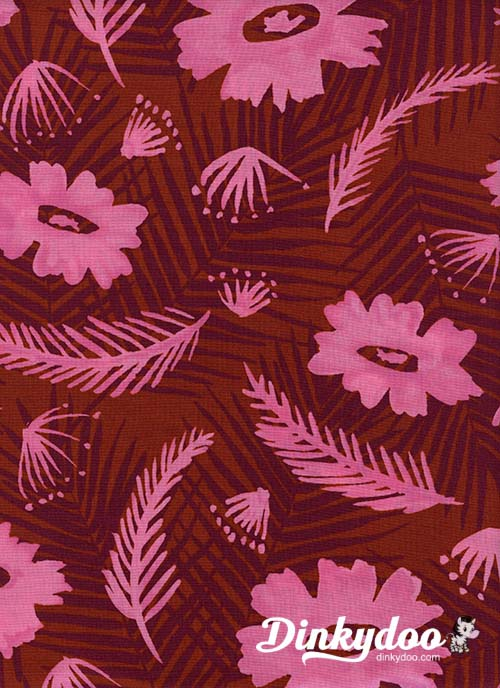Poolside - Palm Springs Bouquet Pink (Rayon) - Melody Miller - Alexia Abegg - Cotton + Steel