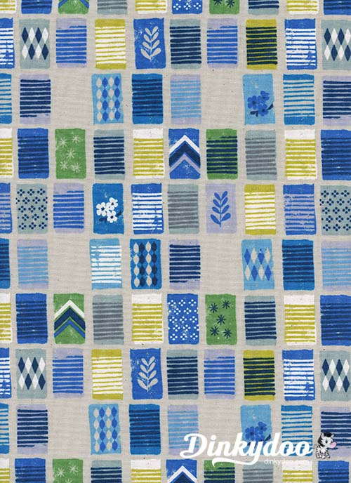 Poolside - Towels Blue White - Melody Miller - Alexia Abegg - Cotton + Steel