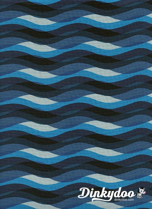 Poolside - Waves Blue - Melody Miller - Alexia Abegg - Cotton + Steel