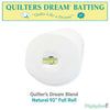 "Quilters Dream Blend Batting (Natural) - 92"" (Full Roll 30 Yd.)"