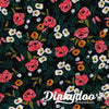 Wonderland - Painted Roses Black (Rayon) - Rifle Paper Co. - Cotton + Steel (1/4 Yard)