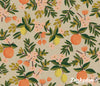 Primavera - Citrus Floral Sand Canvas - Rifle Paper Co - Cotton + Steel