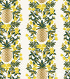 Primavera - Pineapple Stripe Cream Metallic - Rifle Paper Co - Cotton + Steel