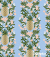 Primavera - Pineapple Stripe Periwinkle Metallic - Rifle Paper Co - Cotton + Steel