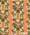 Primavera - Pineapple Stripe Peach (Canvas) - Rifle Paper Co - Cotton + Steel