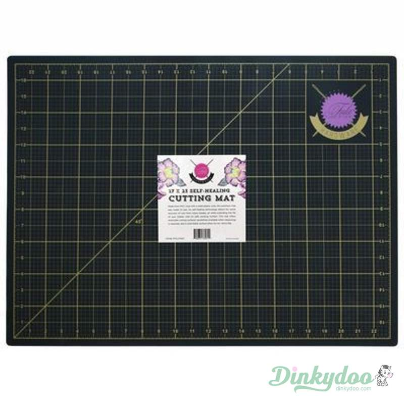 "Tula Pink Black and Gold Cutting Mat 17"" x 23"""