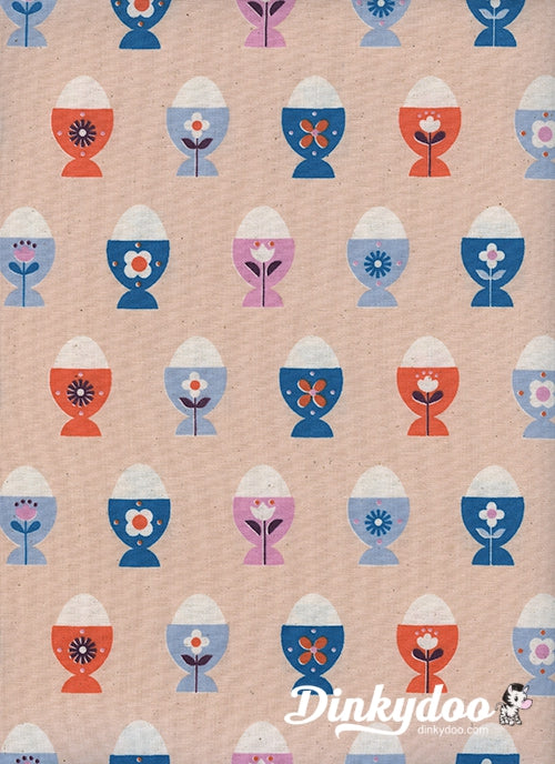 Welsummer - Egg Cups Peachy - Kim Kight - Cotton + Steel