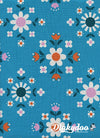 Welsummer - Floral Geometry Bright Blue - Kim Kight - Cotton + Steel