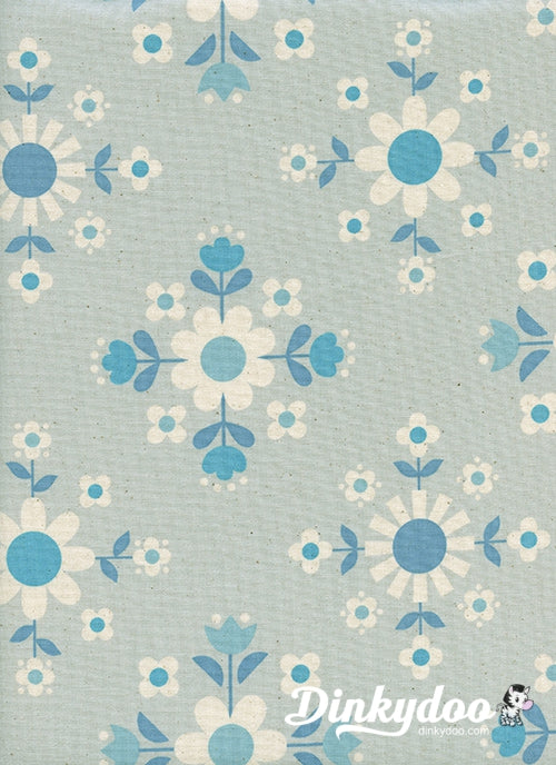 Welsummer - Floral Geometry Ice - Kim Kight - Cotton + Steel