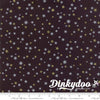 White Christmas - Stars Black (Metallic) - Zen Chic - Moda (1/4 Yard) (Pre-order: June 2018)
