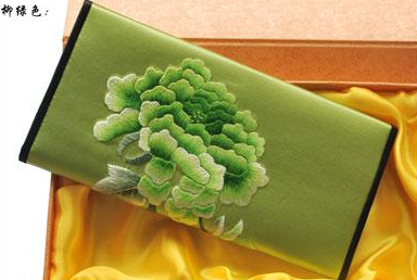 Chinese handicraft embroidery wallet made with silk