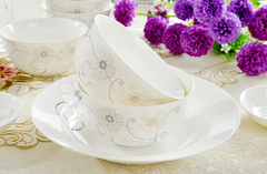 Elegant Bone China Dining Set (56 piece)