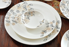 56 PCs Chinese Style Bone China Dining Set