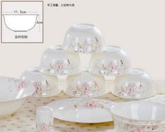 Date with Rose 56 PCs Bone China Dining Set
