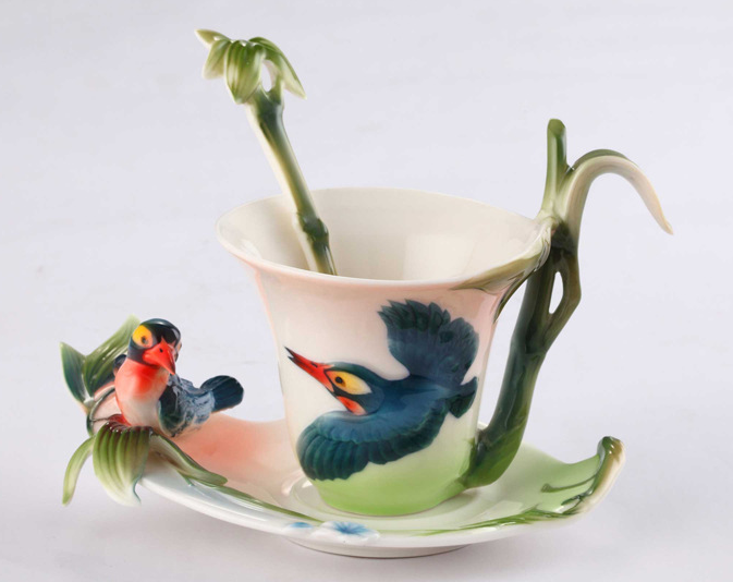 Bamboo Bird Tea Cup