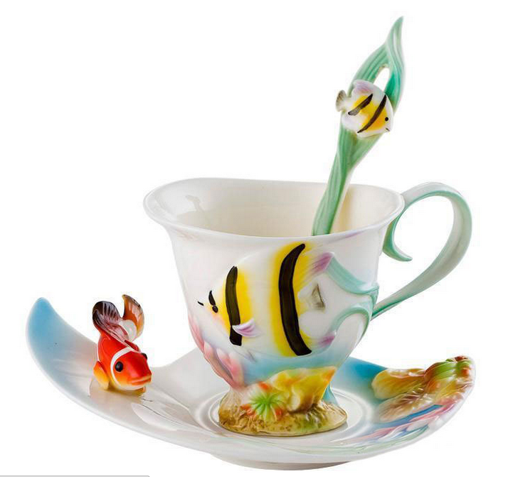 Nemo's World Creative Teacup & Saucer & Spoon Set (3 Pcs)