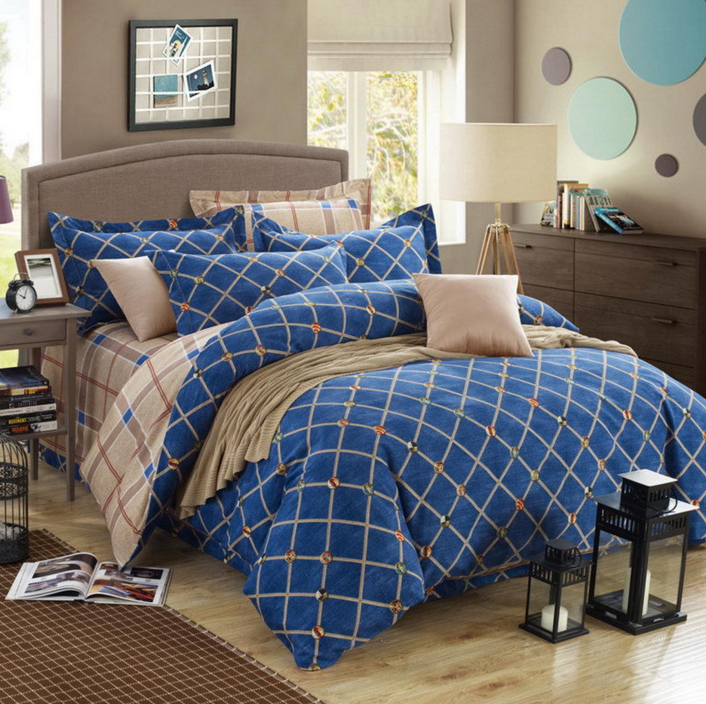 Cute 4 Piece Cotton Bedding Set