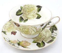 Lovely Floral Tea Cup Set (4 Pcs)