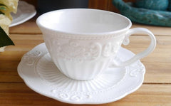 White Lace Cute Tea Cup