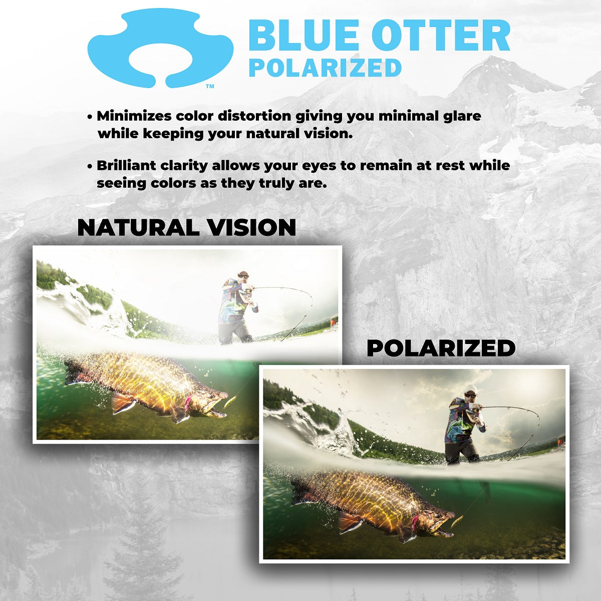 Blue Otter Polarized Natural Vision