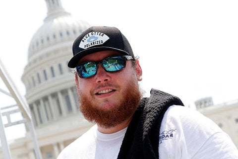 Luke Combs Sunglasses Blue Otter Polarized Washington DC