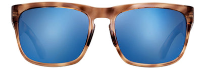 Polarized-Sunglasses_Blue-Otter-Polarized_Cumberland_Raw-Honey-Frame_Zeiss-Lens_Pacific-Blue-Lens_Chrome-Logo_