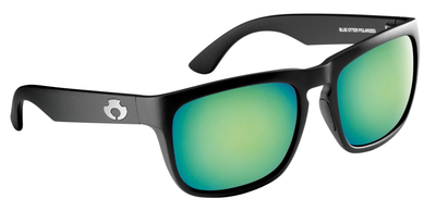 |POLARIZED SUNGLASSES| |CUMBERLAND| MATTE BLACK-DEEP GREEN | NYLON