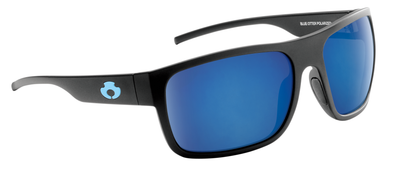 POLARIZED SUNGLASSES| |RABUN| MATTE BLACK-NIGHT BLUE | NYLON