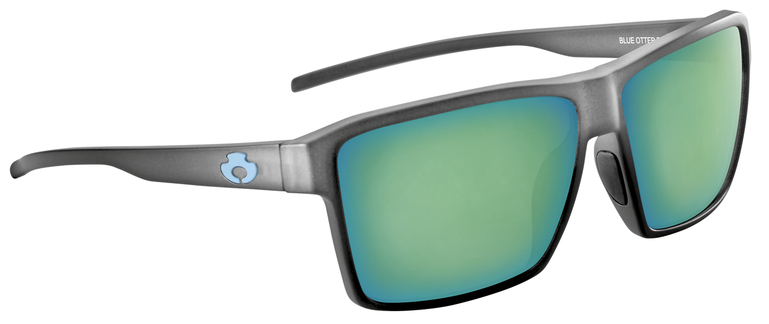 |POLARIZED SUNGLASSES| |WATAUGA| RIME GRAY-DEEP GREEN | NYLON
