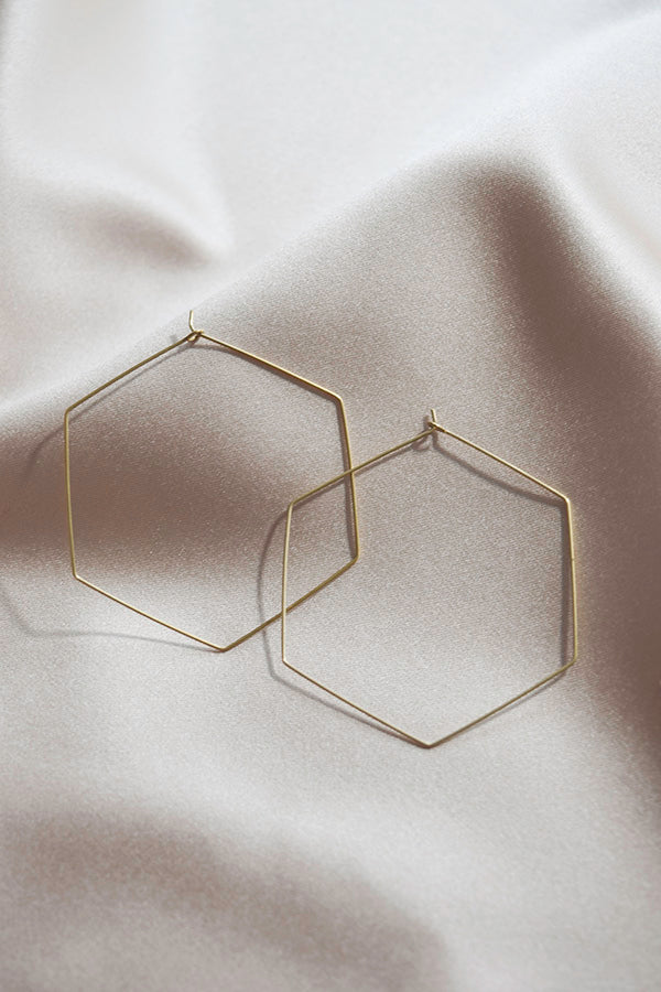 Hexagon Hoops- Large