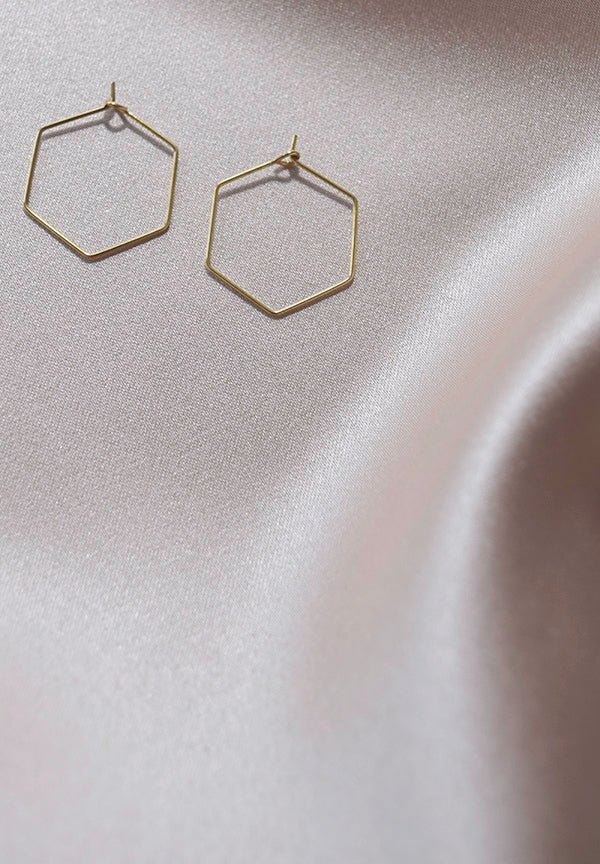 Hexagon Hoops- Small