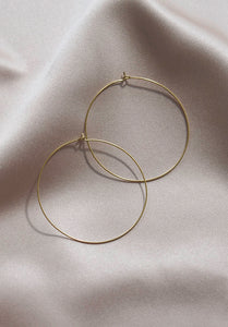 Circular Hoop Earrings- Large